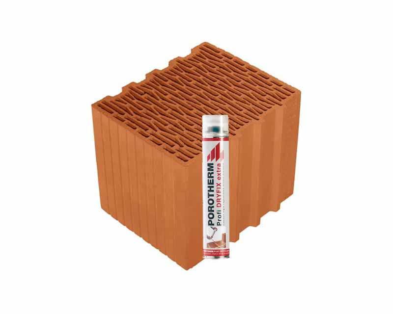 Porotherm 30 Klíma Profi tégla Dryfix