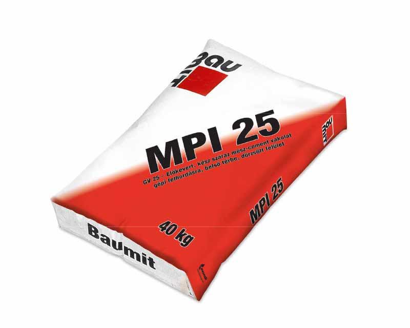 Baumit MPI 25 (GV 25 belső gépi vakolat)